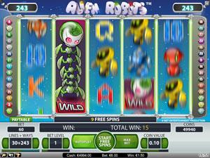Alien Robots - spilleautomat fra NetEnt