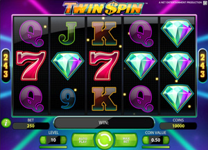 Twin Spin - spilleautomat fra NetEnt